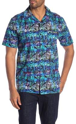 Onia Vacation Tropical Print Shirt