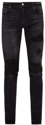 Amiri Mx1 Distressed Slim Leg Jeans - Mens - Black
