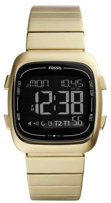 Fossil Rutherford Digital Bracelet Watch, 38mm