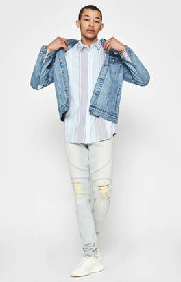 Moto Pacsun Stacked Skinny Comfort Stretch Splatter Light Jeans