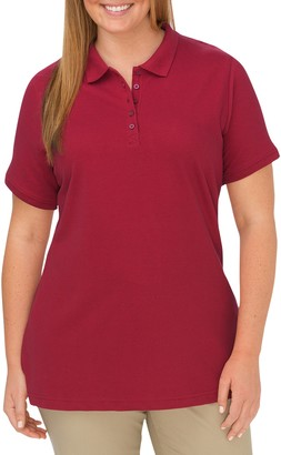 Dickies Plus Size Solid Pique Polo