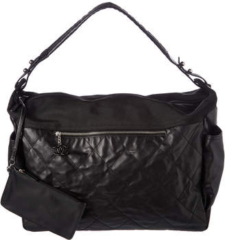 Chanel Black Quilted Lambskin Leather Paris-Biarritz Large Hobo