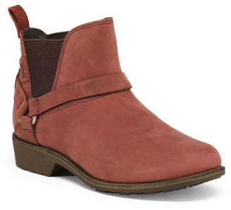 Buckle Suede Chelsea Booties