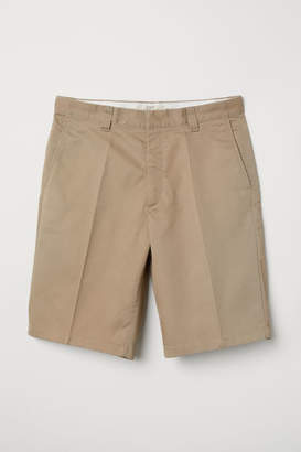 H&M Knee-length Twill Shorts - Beige