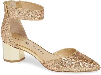 Katy Perry Ankle Strap Glitter Pump