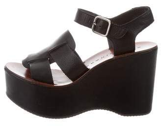 Chie Mihara Leather Flatform Wedges