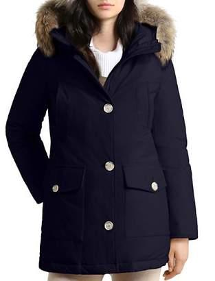 Woolrich Arctic High Collar Fur Trim Down Parka