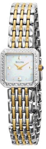 Bulova Women's 98R132 Mother of Pearl Dial 20 Diamonds Case Bracelet Watch