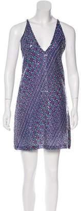 Versace Sequined Mini Dress