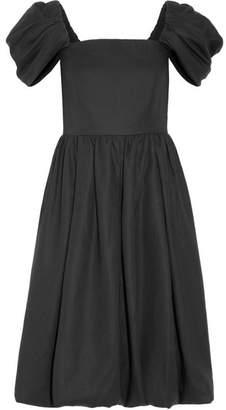 Co - Cotton Midi Dress - Black $1,495 thestylecure.com