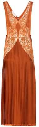 Stella McCartney Pleated lace-panelled dress