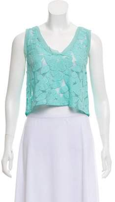 3.1 Phillip Lim Sheer Crop Top