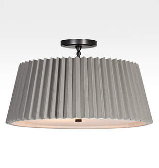 "Rejuvenation Barton 24"" Pleated Drum Semi-Flush Fixture"