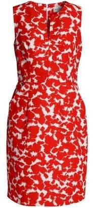 Milly Printed Cotton-Faille Mini Dress