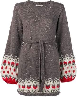 Mes Demoiselles contrasting detail sweater