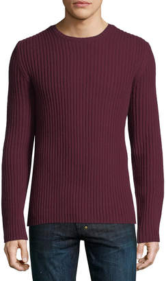 Neiman Marcus Cashmere Ribbed Knit Sweater