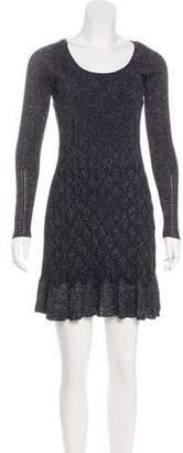 Diane von Furstenberg Perlita Metallic-Accented Dress
