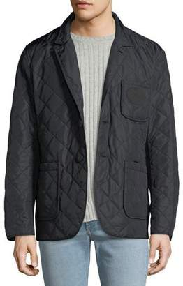 Burberry Men's Clifton Quilted Button-Front Utility Jacket