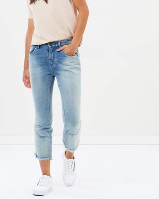 One Teaspoon Low Waist Kick Flare Jeans