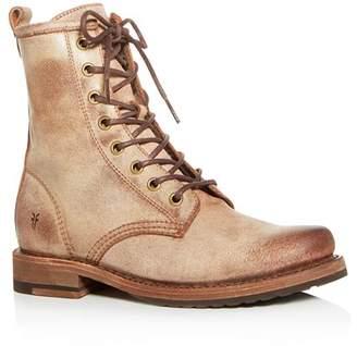 Frye Women's Veronica Distressed Combat Boots