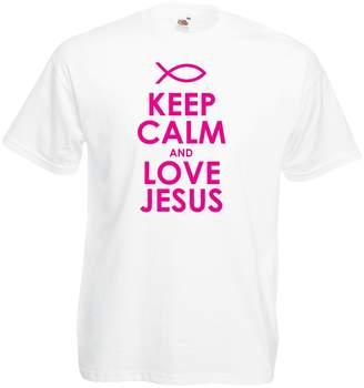 lepni.me T Shirts for Men Love Jesus Christ, Christian Religion - Easter, Resurrection, Nativity, Religious Gift Ideas ( White Black)