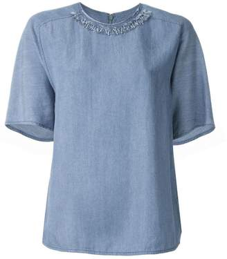 3.1 Phillip Lim frayed denim top