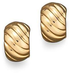 Roberto Coin 18K Yellow Gold Ribbed Earrings