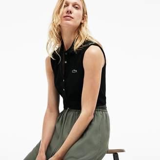 Lacoste Women's Slim Fit Stretch Mini Pique Polo