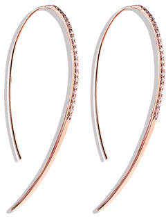 Lana Fatale Hooked on Hoops Diamond Earrings in Rose Gold