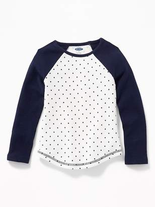 Old Navy Polka-Dot Raglan-Sleeve Thermal Tee for Toddler Girls