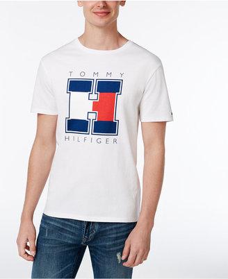 Tommy Hilfiger Men's H Logo Print T-Shirt $34.50 thestylecure.com