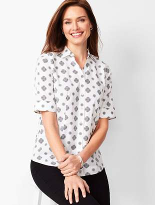 Talbots Perfect Shirt - Elbow-Length Sleeves - Medallion