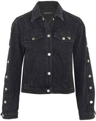J Brand Bella Freud Debbie Cropped Denim Jacket - Gray