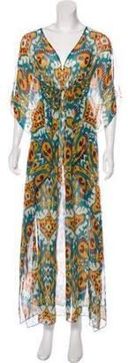 Tory Burch Semi-Sheer Silk Dress