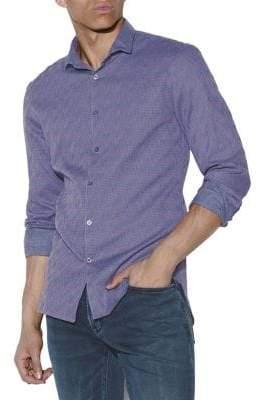 John Varvatos Ashten Star Wire Collar Long Sleeve Sport Shirt