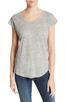 Women's Joie 'Neyo' Cap Sleeve Linen Tee $128 thestylecure.com