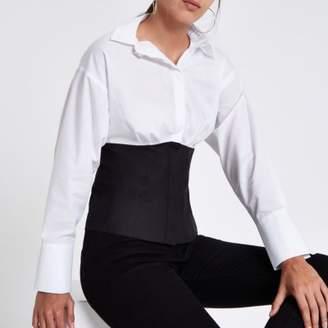 River Island White color block shirt