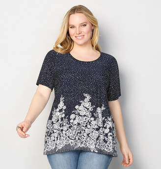 Avenue Speckled Floral Top