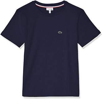 Lacoste (ラコステ) - (ラコステ) LACOSTE BOYSコットンジャージークルーネックTシャツ TJ1442L 166 ネイビー 06A