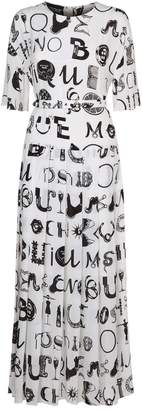 Moschino Abstract Logo Belted Dress
