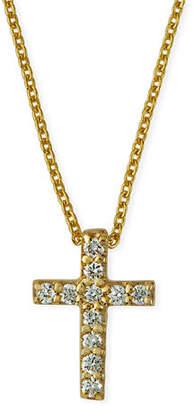 Roberto Coin 18k Small Diamond Cross Pendant Necklace