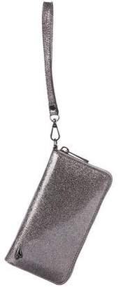 Diane von Furstenberg Glitter Zip Wallet