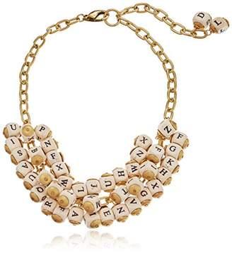 "Lenora Dame ""Bohemian"" Alphabet Cluster Necklace"