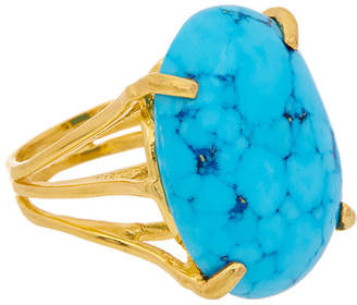 Bounkit 14K Plated Turquoise Ring