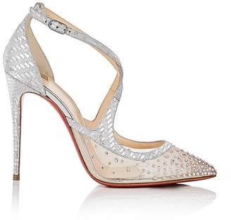 Christian Louboutin Women's Twistissima Strass Ankle-Strap Pumps
