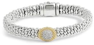 Lagos Diamond and Caviar Oval Station Bracelet