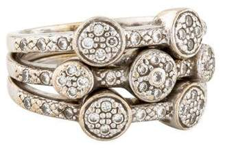 Charriol 18K Set of Three Diamond Stack Bands