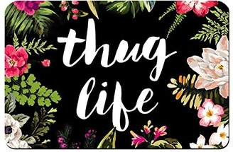 "ZBLX Thug Life Flowers Doormat Entrance Mat Floor Mat Rug Indoor/Bathroom Mats Rubber Non Slip (23.6""x15.7"""