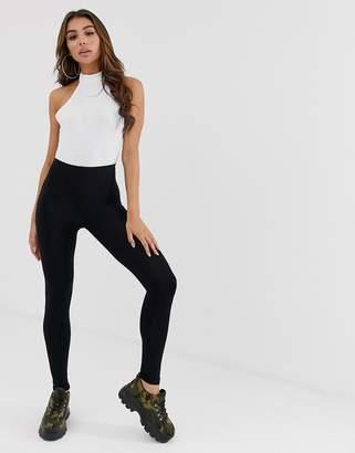 0645aae7170ab Asos Design DESIGN high waisted leggings in black