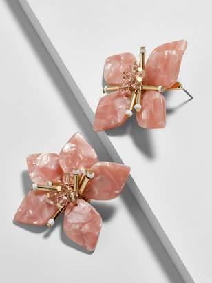 BaubleBar Amarise Flower Resin Stud Earrings-Blush